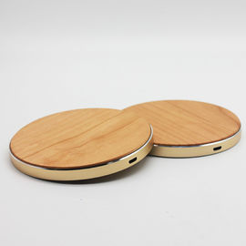 China Solid Bamboo Surface Wooden Wireless Charger 120g Weight CE / RoHS Approved supplier