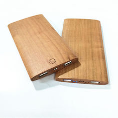 China Original Wood Color Portable Powerbank Phone Charger / Power Supply Cherry Material Made supplier