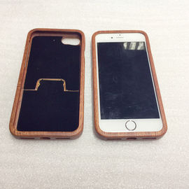 China Separating Type iPhone 7 / 8 Sapele Wooden Cover with Straight Edge supplier