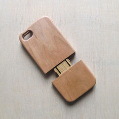 China Straight Edge Cherry Wood iPhone Case Separating Type for Apple 5 / SE supplier
