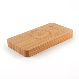 China Wired / Wireless Bamboo Qi Power Bank 6000mAh with Metal Recognition Protection supplier