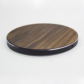 China Qi Standard Wooden Wireless Charger , Solid Wood Surface Cordless Phone Chargers supplier