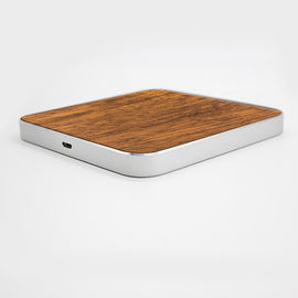 China Micro USB Port Wooden Qi Wireless Charger , Portable iPhone Charging Station supplier