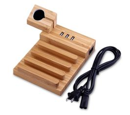 China Wood USB Charging Station , Apple Watch Charging Slot Phone Charging Docking Station supplier