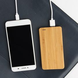 China Smartphone Wireless 6000mAh Wooden Portable Charger Li - Ion Battery Type supplier
