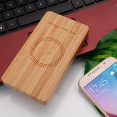 China 5 - 8mm Transmission Distance Wooden Qi Wireless Charger Ultra - Thin iOS Phone Usage supplier