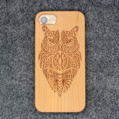 China Bamboo Carved Cell Phone Cases / Mobile Shell Accessories for iPhone X 8 7 6 supplier