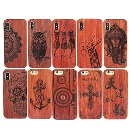 China High - End Wood iPhone X Case Comprehensive Protection Personalized Service Available supplier