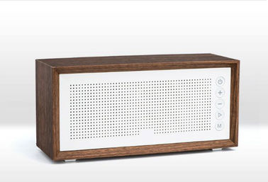 China Custom Made Wooden Bluetooth Speaker , 10M Working Range Mini Wood Speaker supplier