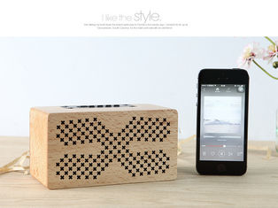 China Insert Card Natural Wood Speakers 10M Working Range Bluetooth Audio Speaker supplier