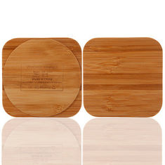 China Bamboo Wireless Mobile Charger for Qi Enable Smartphone OEM / ODM Acceptable supplier