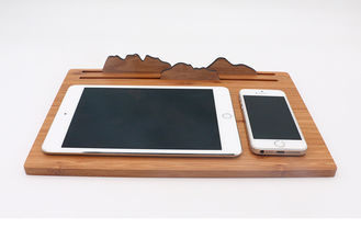 China Three in One Qi Bamboo Wireless Charger Mouse Pad iPad Use Wooden Phone Stand supplier