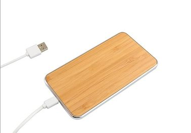 China Universal Wireless Cell Phone Charger , Wood Surface Cordless Charging Station supplier