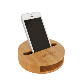 China Universal Wooden Wireless Speaker / Audio Sound Amplifier for 11mm Thickness Cell Phone supplier
