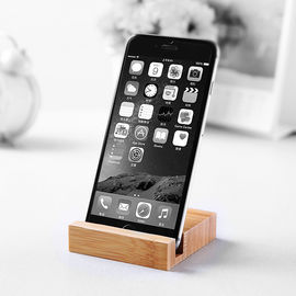 China Mini Simple Style Wooden Phone Holder / Wooden Smartphone Stand Bamboo Made supplier