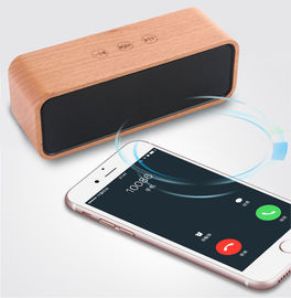 China Private Label Outdoor Passive Wooden Wireless Speaker with 6 - 8H Playback Time supplier