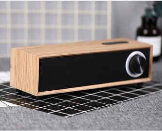 China Rechargeable 5W 4 Ohm Wooden Bluetooth Speaker , Customized Passive Portable Speaker supplier