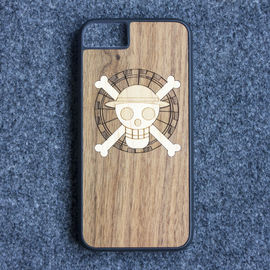 China Craved Light Weight TPU Apple iPhone Wood Case Custom Design Supported supplier