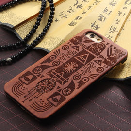 China Real Solid Wood Grain iPhone 7 Case with Hard Crafted PC Material supplier