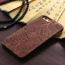 China OEM Anti - Static Full Wood Carved iPhone 6 Plus Case with Natural Texture supplier
