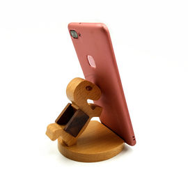 China OEM Wooden Phone Holder Nature Animal Shaped for All Mobile Phones supplier