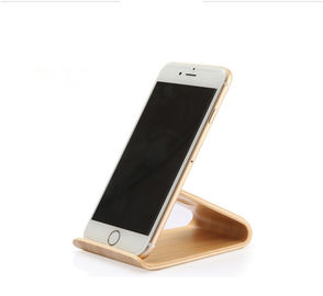 China Universal Desktop Wooden Mobile Phone Stand Hand Made Eco - Friendly supplier