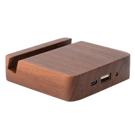 China 5200mAh Emergency Wooden Phone Charger , Ultra - Thin Easy Carry Power Bank supplier