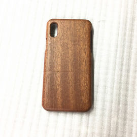 China Cherry / Sapele Wood iPhone X Case Separating Type Round Edge Model distributor