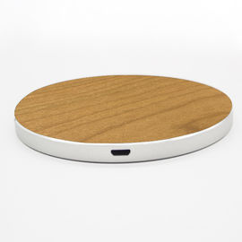 China Custom Design Wooden Wireless Phone Charger 73% Efficiency Fast Charging Type factory