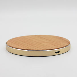 China Qi Portable Wireless Wooden Phone Charger , iPhone X Bamboo Wireless Charger factory