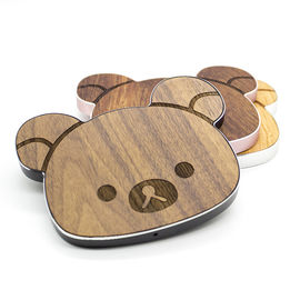 China Cherry / Walnut / Bamboo Qi Wood Grain Wireless Charger CE / RoHS Certificated factory