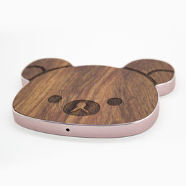 China 10W Wooden Wireless Charger Cellphone Usage in Cartoon / Custom Shape factory