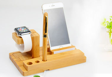 China 3 in 1 Wooden Phone Charger for iWatch / iPhone Holding & Pen Collecting factory
