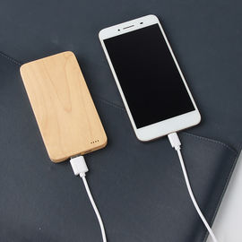 China Custom Logo Ultra Slim Bamboo Phone Charger CE / RoHS / FCC Approval distributor