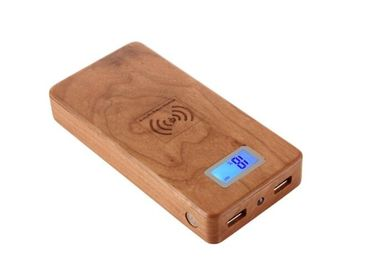 China 12000mAh Wood Qi Charger / Cordless Charger for Xiaomi / iPhone / Samung factory