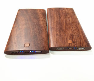 China Eco - Friendly Wood Power Bank Portable Charger 8000mAh CE / RoHS / FCC Approved distributor