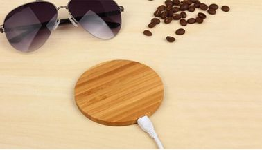 China 5W Bamboo Wireless Wood Qi Charger , Over - Temperature Protection Qi Charging Pad factory
