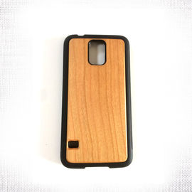 China Galaxy S5 Samsung Wood Case , Mini Precision Made Hard Back Cover distributor