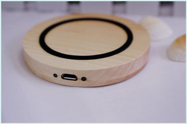 China Natural Wood Ultra Thin Cordless Cell Phone Chargers for Smart Phones distributor