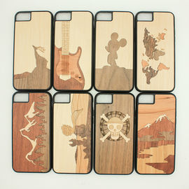 China Laser Engraving Blank Wood iPhone X Case Light Weight with Custom Design distributor