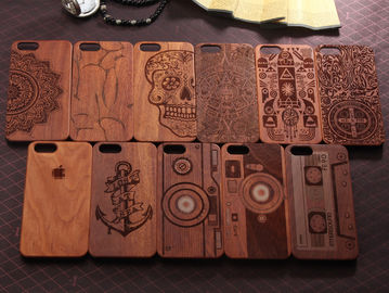 China Natural Texture Wood Cell Phone Case , Anti - Static Cool Wood Phone Cases distributor