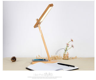China Multi Function Wood QI Charger , 10000mAh Portable LED Desk Lamp factory