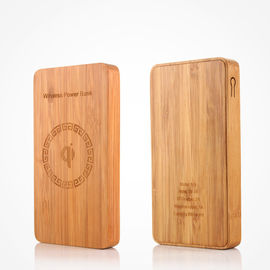 China Universal Bamboo 6000mAh Wireless Portable Battery Pack CE / RoHS / FCC Approval distributor