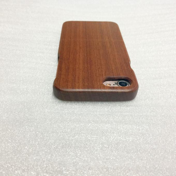 Separating Type iPhone 7 / 8 Sapele Wooden Cover with Straight Edge
