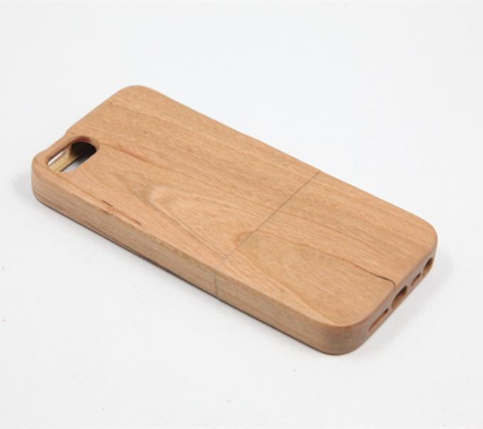 Straight Edge Cherry Wood iPhone Case Separating Type for Apple 5 / SE