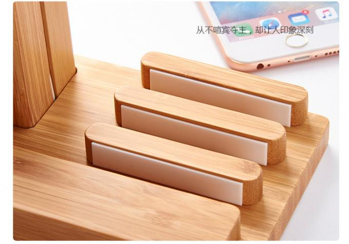 3 in 1 Wooden Phone Charger for iWatch / iPhone Holding & Pen Collecting