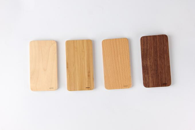 Smartphone Wireless 6000mAh Wooden Portable Charger Li - Ion Battery Type