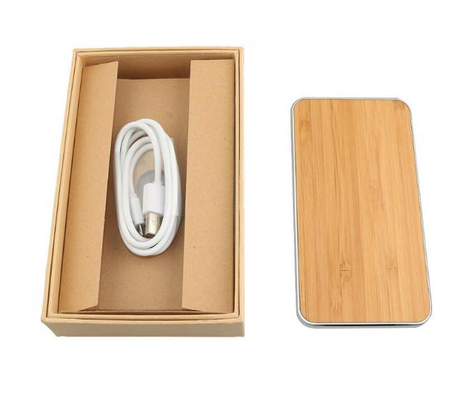 Universal Wireless Cell Phone Charger , Wood Surface Cordless Charging Station