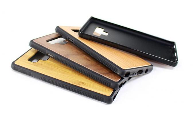 Natural Wood Color Samsung Wood Case , Note 9 Bamboo Cell Phone Cover