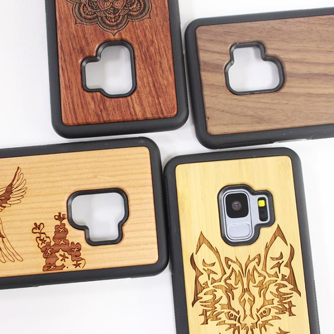 Different Pattern Selection Blank TPU Wooden Phone Case Samsung S9 Phone Use